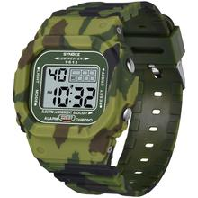 Men's camouflage Digital Watch Square multi-function Electro
