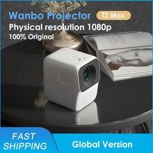 Küresel sürüm Wanbo T2 MAX projektör LED taşınabilir projektör 1920*1080P dikey Keystone düzeltme ev sineması projektörü