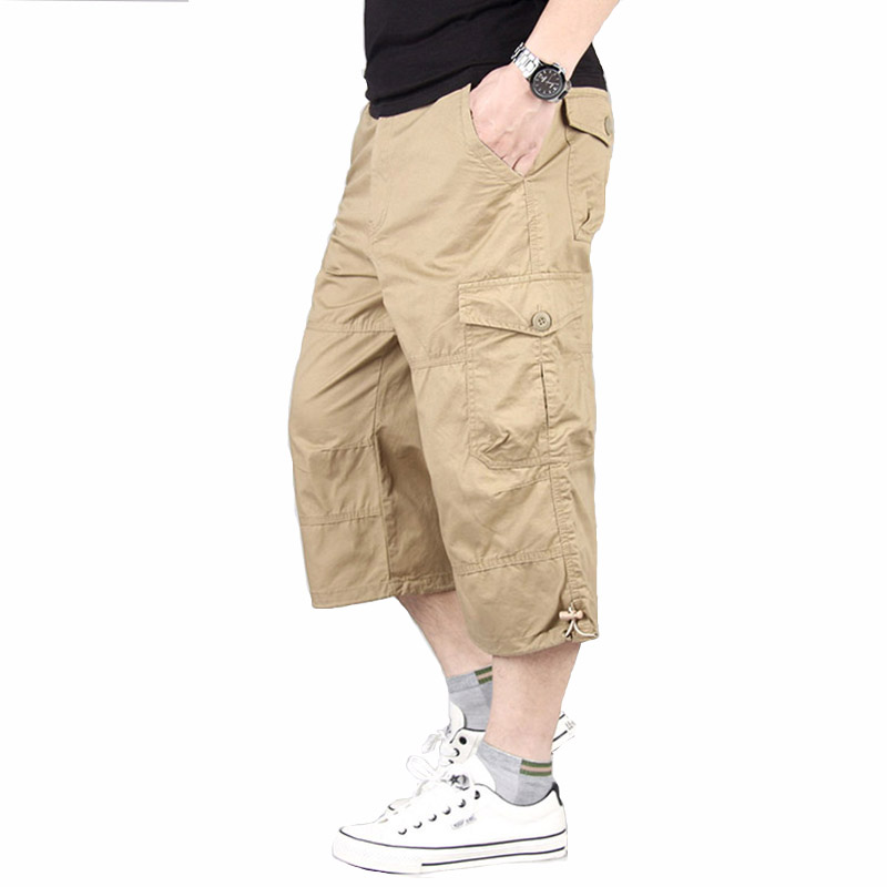 Men's Shorts Summer Military Beach Shorts Tactical Trousers Cargo Multi Pocket Shorts Loose Climbing Trekking Trousers