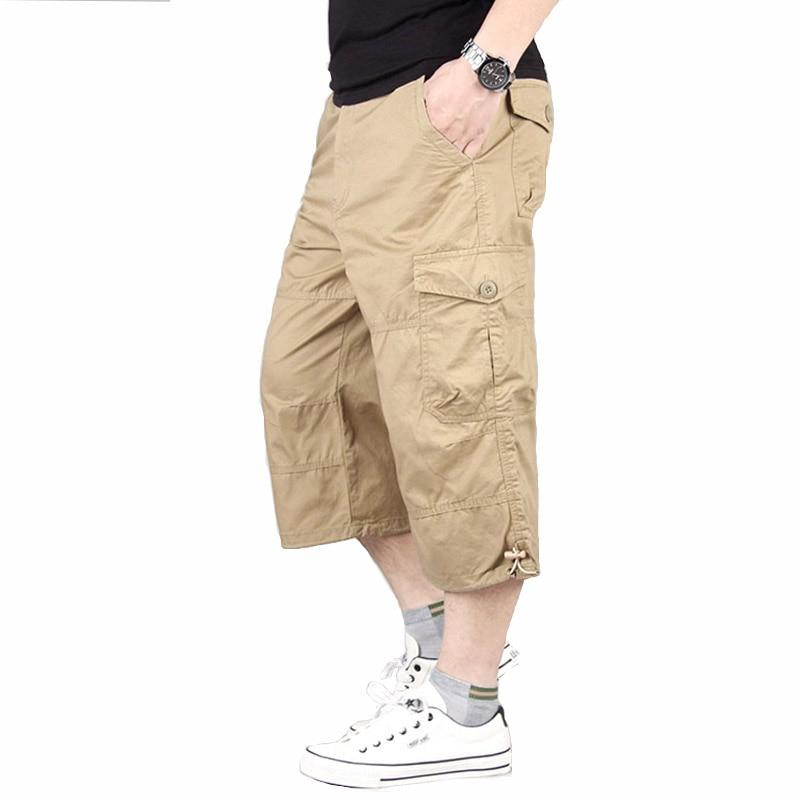 Men's Shorts Summer Military Beach Shorts Tactical Trousers Cargo Multi Pocket Shorts Loose Climbing Trekking Trousers