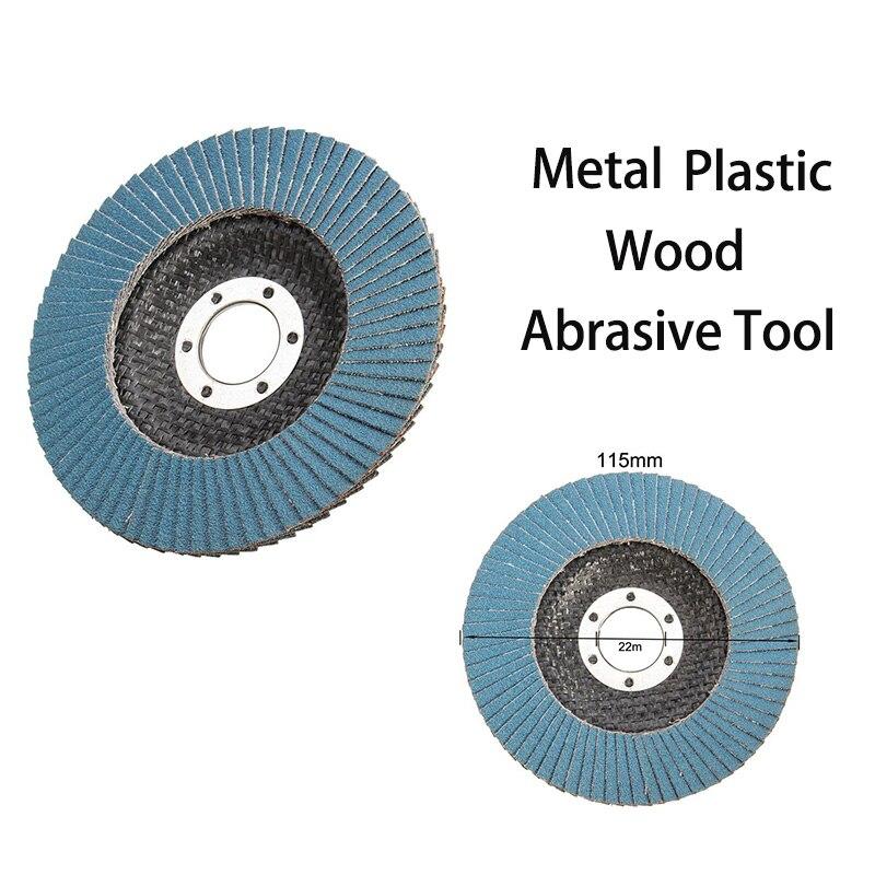 "Abrasive 4/"" Sanding Flap Discs Deburring Grinding Angle Grinder Wheels 10Pcs Hot"