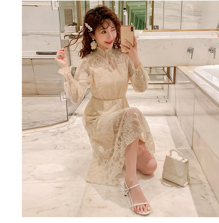 2020 Maternity clothing summer twinset lace maternity one-piece dress white embroidery maternity dress For Pregnant (13)