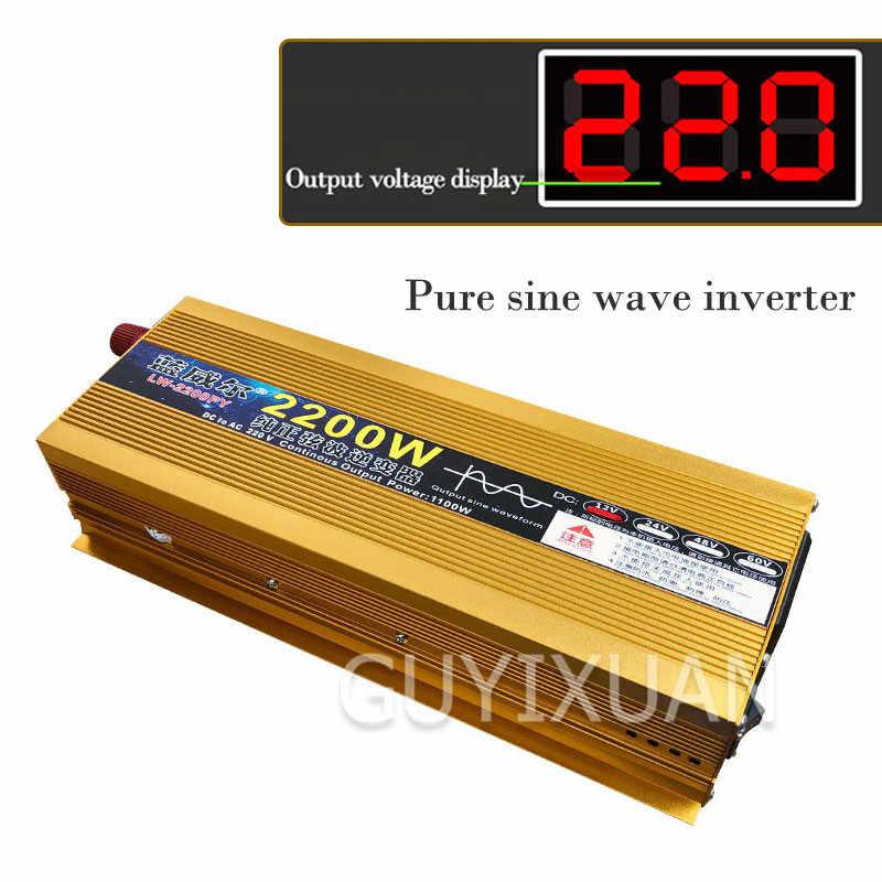 Inwerter 4000/6000W DC 12/24V do AC 220V zmodyfikowany falownik sinusoidalny transformator wyświetlacz LCD