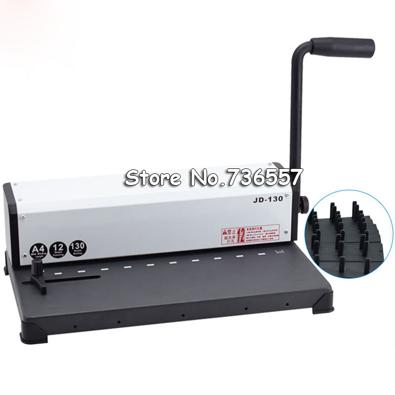 A4 Book binding machine 10 holes Paper Wire Binding 제본기 bookbinding suit A4 paper encuadernadora maquina