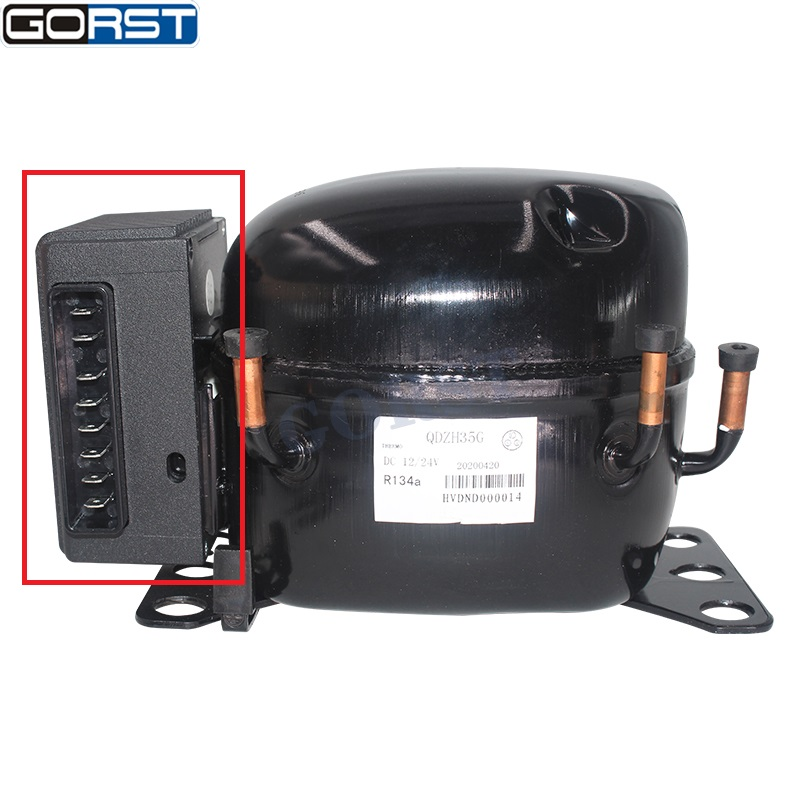 Контроллер электрической коробки 12 В, 24 В постоянного тока для QDZH35G, автомобильный воздушный компрессор для охлаждения, холодильник, морози...
