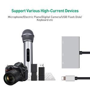 Image 3 - Cable adaptador hembra de doble puerto USB con interfaz de alimentación de 8 pines, sincronización de carga, transferencia de datos para iOS 9 A 12, iPhone, iPad Mini