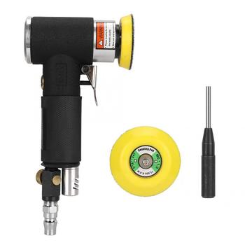 multifunction pneumatic angle grinder 4 inch air grinding tool wind sanding polishing waxing cutting machine 100mm Mini Air Angle Sander 90 Degree Pneumatic Polishing Grinding Machine With 2Pcs Sanding Pad Air Angle Polisher Power Tool
