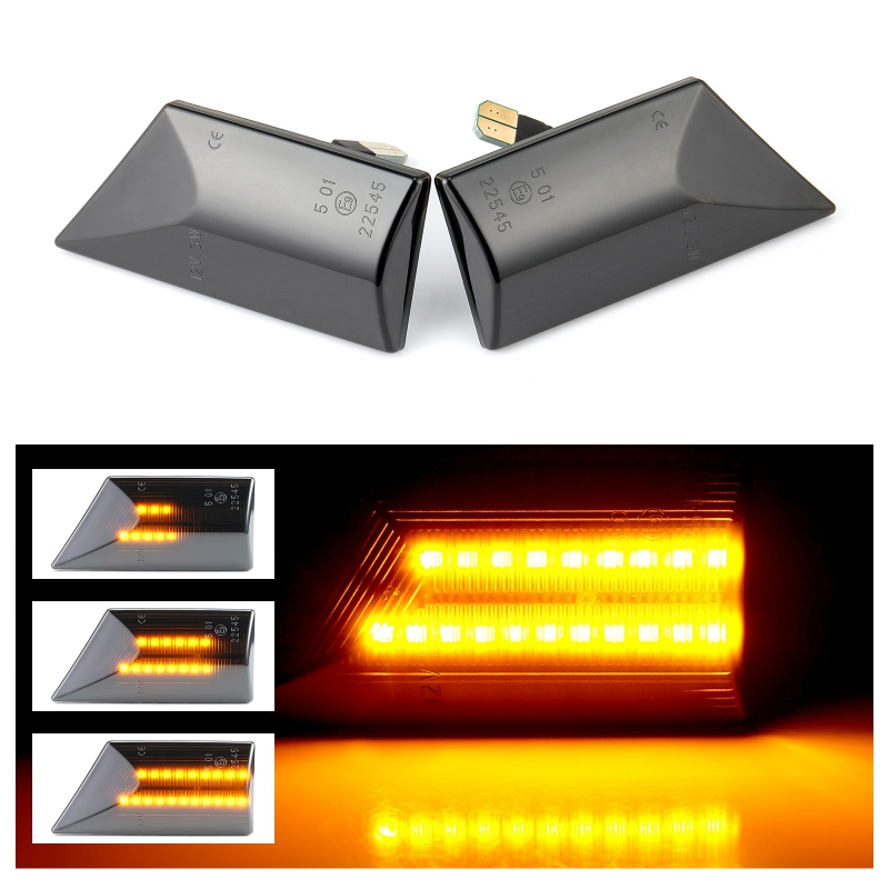 2x Opel Vectra C 4-LED Side Repeater Indicator Turn Signal Light Lamp Bulbs