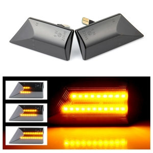 Image 1 - 2 pieces Led Dynamic Side Marker Turn Signal Light Sequential Blinker For Opel Vectra C 2002 2008 For Opel Signum 2003 2008