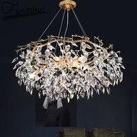 Moderne Kronleuchter Kristall FÜHRTE Kronleuchter Luxus Decke Kronleuchter Beleuchtung Wohnzimmer Schlafzimmer Hotel Restaurant Hängen Lampe-in Kronleuchter aus Licht & Beleuchtung bei