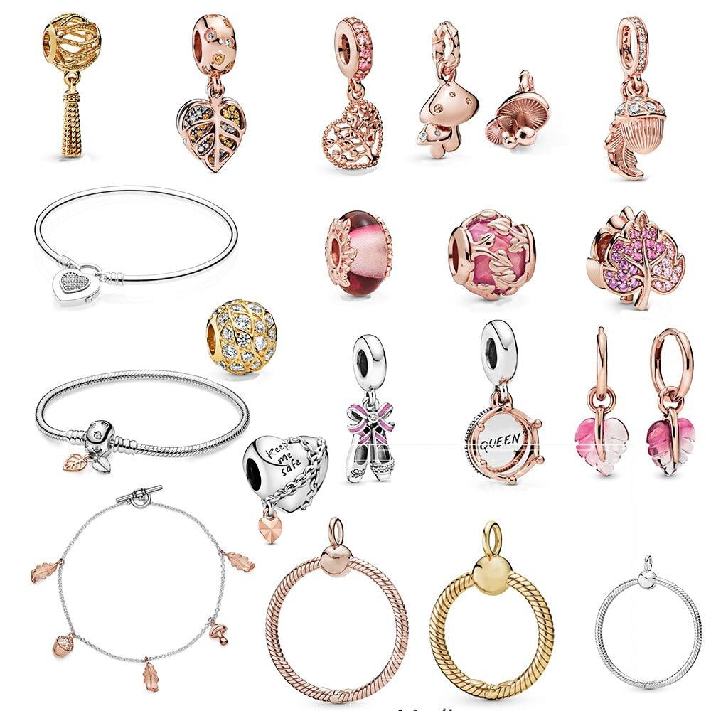 2019 Autumn New S925 Sterling Silver New Love Tree Pendant Mushroom Pendant Suitable for Original Women DIY Bracelet Jewelry