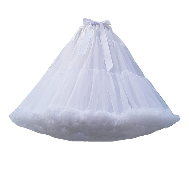 Lolita Style Cute Lady Cosplay Super Fluffy Princess Cotton Skirt Brace Tutu Skirt Soft Yarn 55cm Boneless Cloud Petticoat