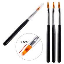 УФ градиентное покрытие гелем Омбре кисть для рисования ручка деревянная ручка инструмент для дизайна ногтей инструменты для маникюра про...