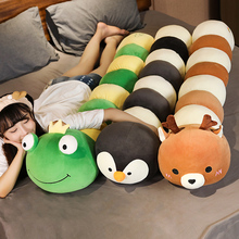 Neue Nizza Lustige Frosch Pinguin Plüsch Lange Kissen Spielzeug Weiche Angefüllte Cartoon Tier Deer Puppe Sofa Bett Schlaf Kissen Kinder geschenke