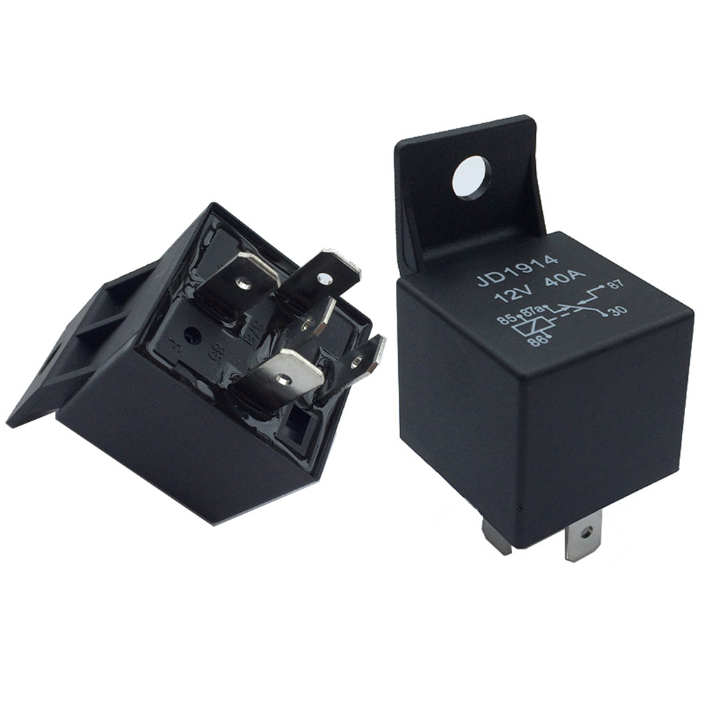12V 40A Plastic Switching Black Normally Open Changeover Car Relay Auto 4 Pin