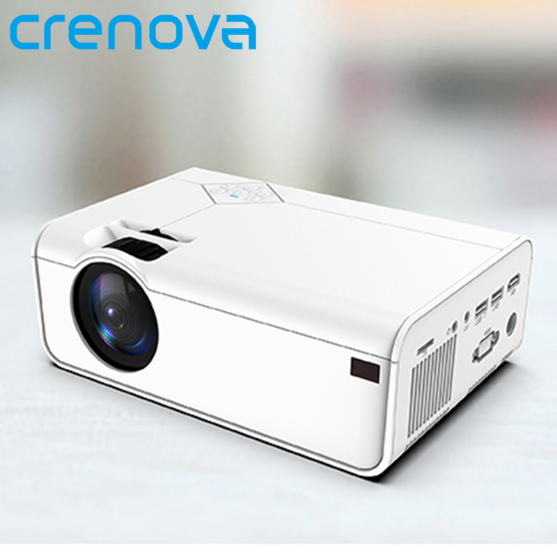 CRENOVA Mini Projector A13  Android Optional  1280 720P Resolution Support 4K With WIFI 3D Bluetooth Home Cinema Projector
