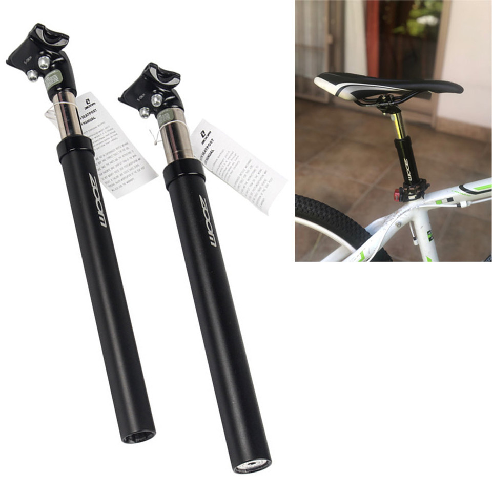 27.2 black bike seat post pure fix cycles adjustable double bolt new