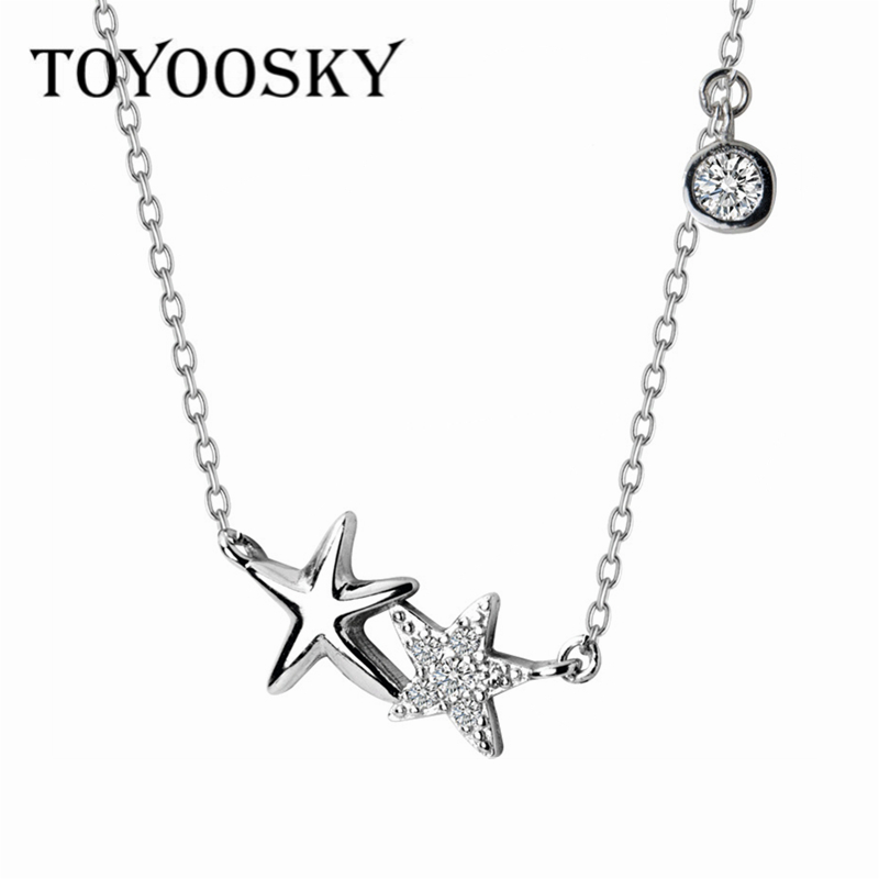 Fashion Charm Women Stars Necklaces & Pendants Chain Choker Necklace Collar Women Statement Jewelry Bijoux 925 Sterling Silver