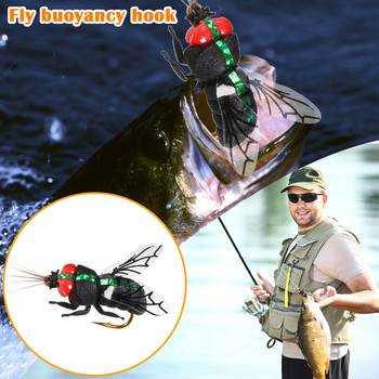 Fly Hook High-carbon Fibre Fishing Hook szpilka do włosów Fly Bait Lure Road Lure Bait Buff słodkowodne Fly Hook Insect Bai # z tanie i dobre opinie fibra Kolczasty hook