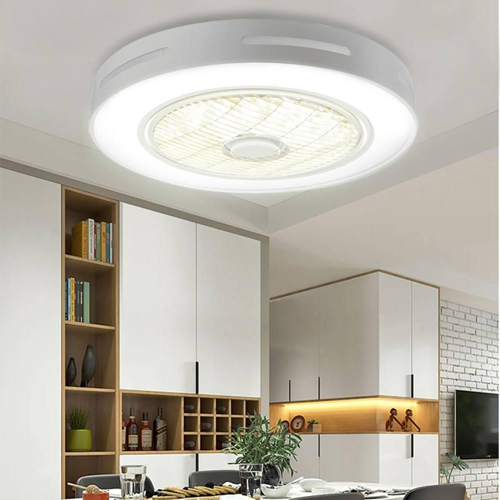 Moda moderna LEVOU Teto luzes de fãs 72W cores de Iluminação luzes de Teto com 3 & 3 velocidade da engrenagem da lâmpada com controle remoto AC185-250V