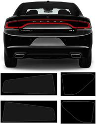 Bolaxin Dark Smoke Vinyl Achterlicht Tint Kit Voor 2015-2020 Dodge Charger