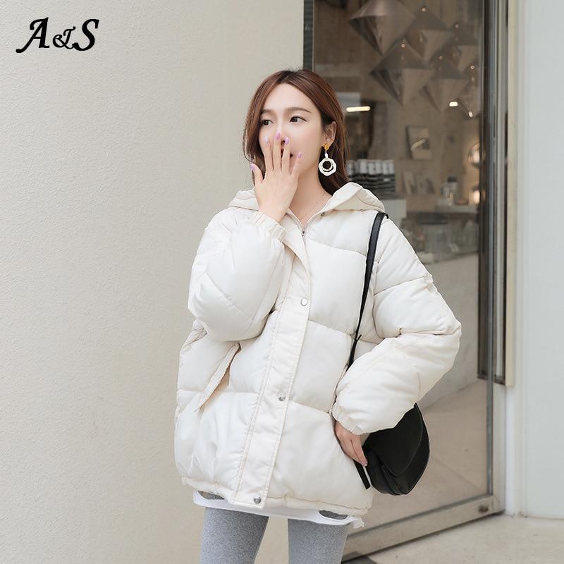Купить anbenser 2020 зимняя пуховая куртка женские короткие куртки