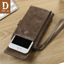 DIDE Vintage men Wallets Genuine Cowhide Wallet Large Capacity Real Leather Male coin Phone Pocket wallets and purses