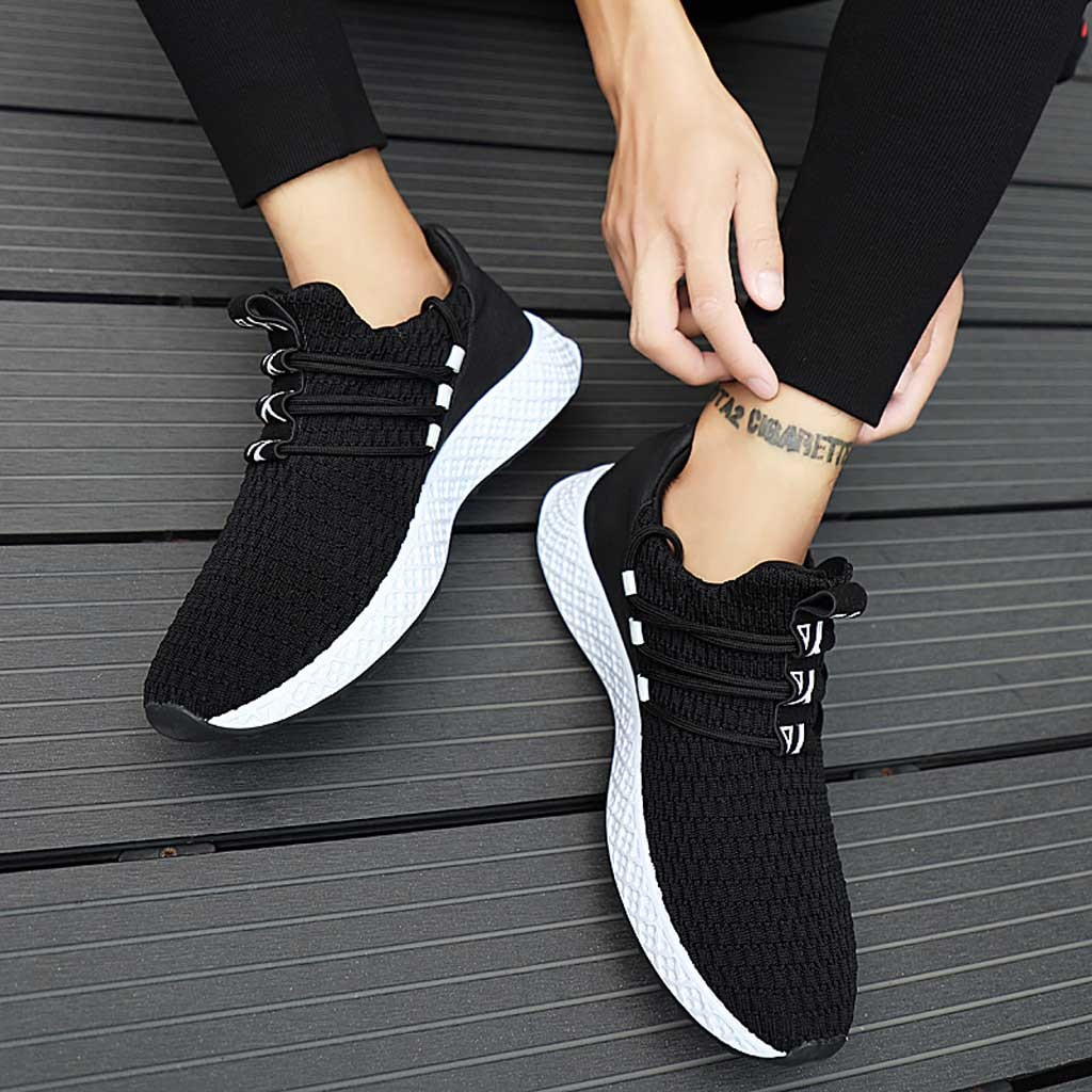 Running Shoes Fashion Men Flying Weaving Sneakers Casual Breathable Shoe Student