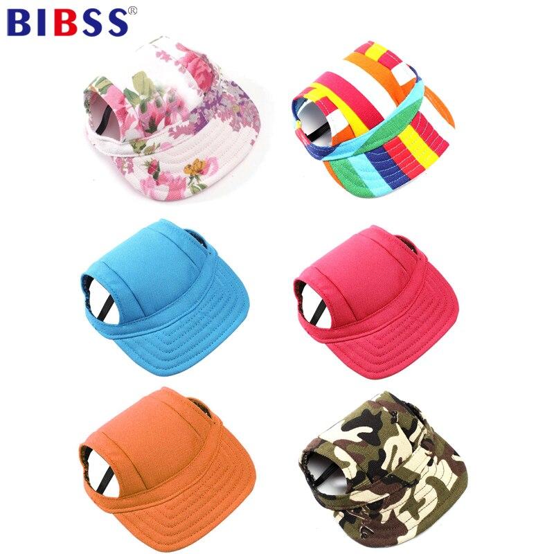 Summer Pet Dog Hat Cap Outdoor Dog Baseball Cap Canvas Small Dog Sunscreen Accessories