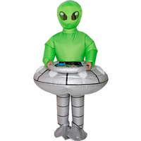 Alien UFO Inflatable Costume Cosplay Costume Peluche Mascot Costume for Kids Adults Halloween Costumes for Women Kids