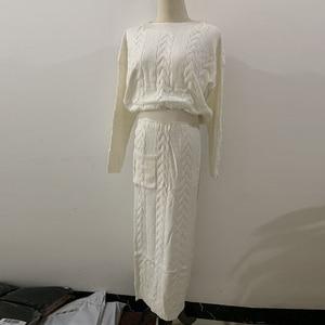 Image 4 - Camisola de inverno abaya dubai turquia muçulmano define hijab vestido caftan kaftan islam vestuário abayas para mulher robe musulman conjuntos
