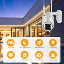 Auto Tracking Home Security IP Camera1080P Cloud Wifi PTZ Camera Outdoor 2MP4X Digital Zoom Speed Dome Camera