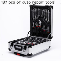 Hardware tools manual repair wrench tool set 187 combination set auto repair tools