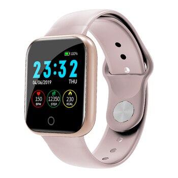 Reloj inteligente I5 para mujeres/hombres Monitor de ritmo cardíaco Seguimiento de la presión arterial Bluetooth reloj inteligente para mujeres para Apple Watch Andriod