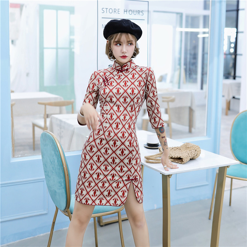 Chinese Holiday Girl Vintage Party Dresses Qipao Cheongsam