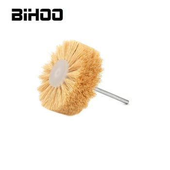 цена на Abrasive Sisal Filament Head Wheel Brush 100mm Polishing Grinding Buffing Wheel Woodworking for Furniture Rotary Drill Tools