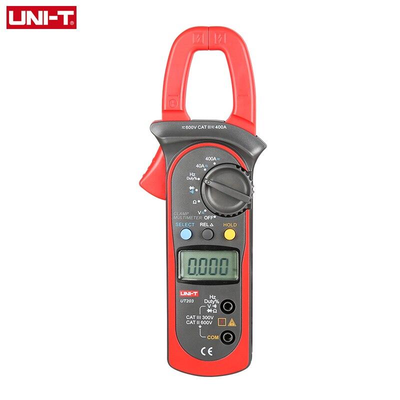 UNI-T UT203 UT204 UT204A Digital Handheld Clamp Multimeter Tester Meter DMM CE AC DC Volt Amp