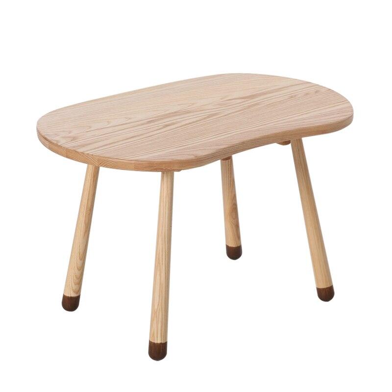 Solid Wood Children's Bench Cartoon Deer Bench Kindergarten Baby's Table And Chair Suite Nordic Animal Children's Chair