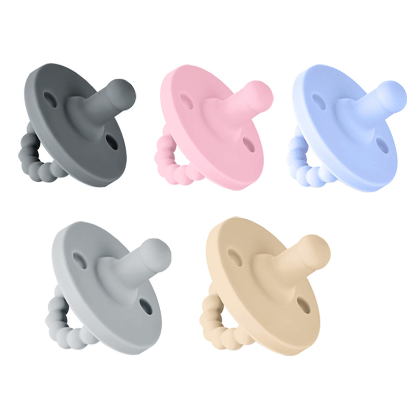 XCQGH 1Pcs High Quality Solid Color Newborn Baby Pacifiers For Baby Chew Food Grade Boy Girl Pacifier