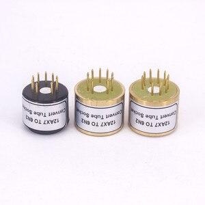 Image 2 - 1Pc 12AX7 ECC83 Top Te 6N2 Bodem 9Pins Naar 9Pins Buis Diy Audio Vacuümbuis Adapter Socket converter Versterker Hifi