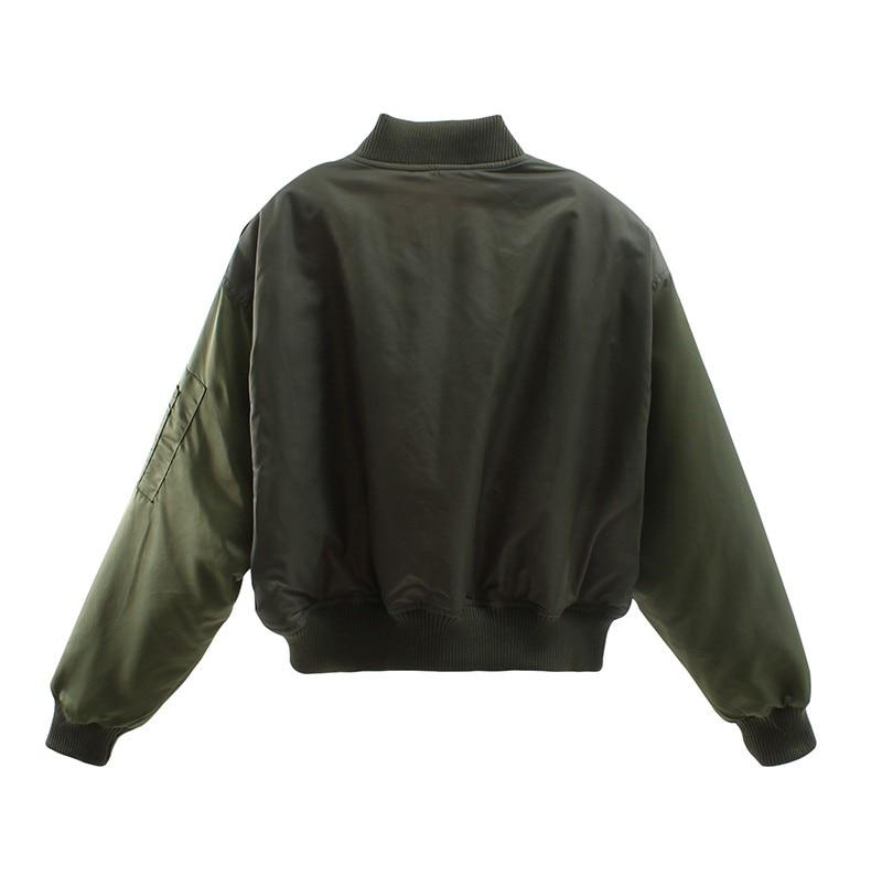 H19f8a1f108d94542913bc092814eb6f7S Artsnie Autumn 2020 Bomber Jacket Women Army Green Warm Zipper Pockets Winter Coat Female Jacket Parkas Femme Chaqueta Mujer
