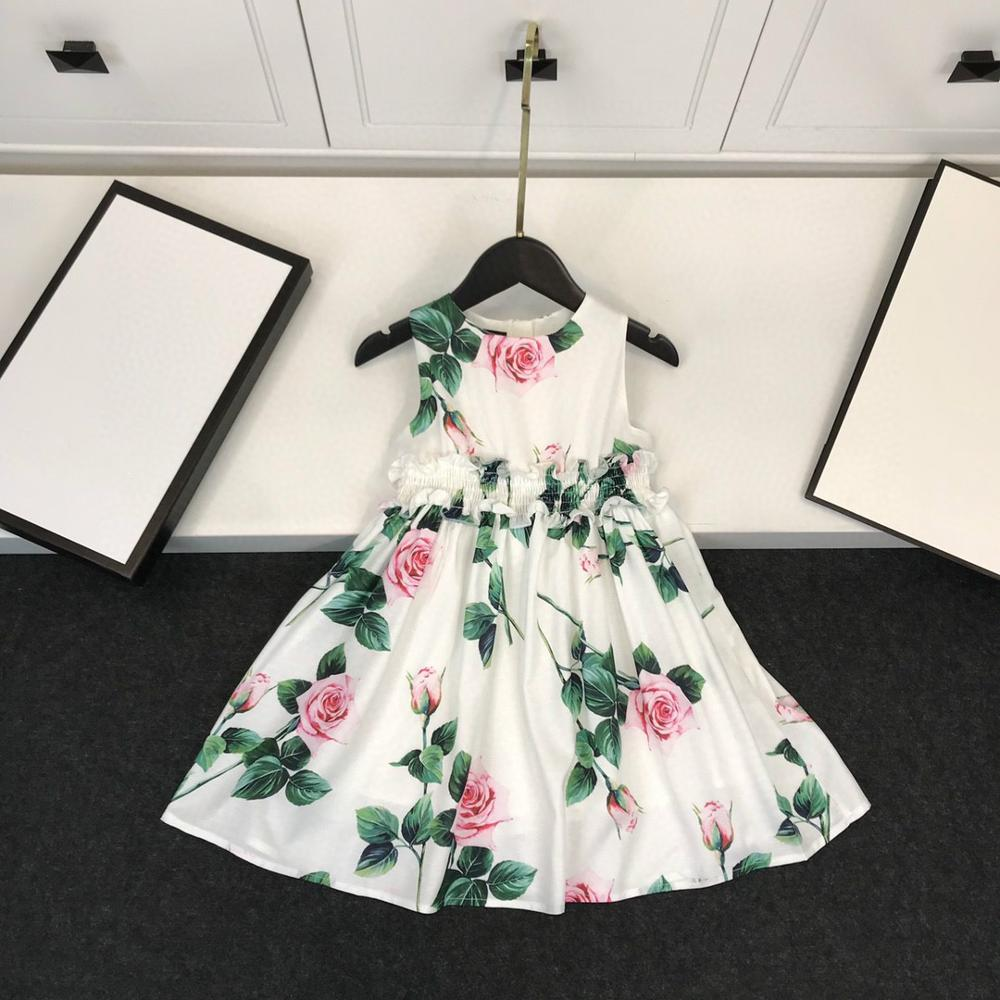 New 2020 Kids Princess Dress, Lovely Dress With Beautiful Flowers