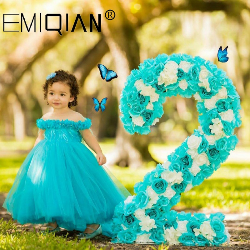 Toddler Infant Bowknot Tutu Tulle Dresses Baby Girls Flower Gown Outfits Kids Dresses For Girls Clothing Girls Dress Girl