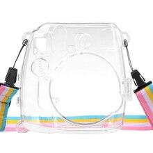 Защитный корпус пылезащитный легкий противоударный чехол для камеры портативный с ремешком прозрачный для Instax Mini 8 9