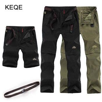 цена на Men's Spring/Summer/Autumn Pants Men Zip-Off Khaki/Black Pants Mens Plus Size 6XL Quick Dry Trousers Man Casual Pants AM421