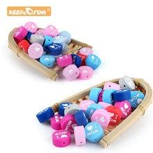 Keep & Grow – perles rondes en Silicone, 10 pièces, I love Mom Dad, rongeur, collier de Dentition, bricolage, perles, Dentition, jouets Kralen