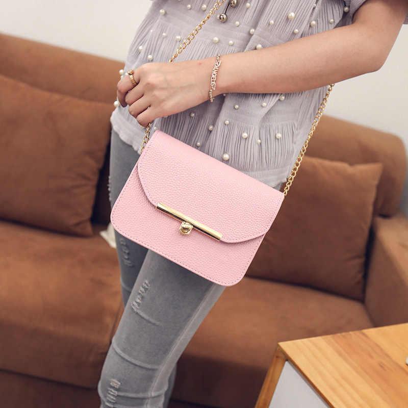 2020 新女性のハンドバッグのファッション韓国語バージョンのショルダーバッグチェーンメッセンジャーバッグ甘い女性バッグソリッドカラーのショルダーバッグ