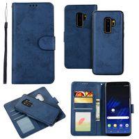Funda con tapa S10e para Samsung Galaxy Note 20 Ultra 10 S20 FE S8 S9 Plus, funda de teléfono Retro de cuero, billetera 2 en 1, carcasa desmontable