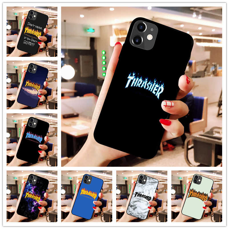 black thrasher Phone Case for iPhone 11 pro XS MAX 8 7 6 6S Plus X 5S SE 2020 XR cover