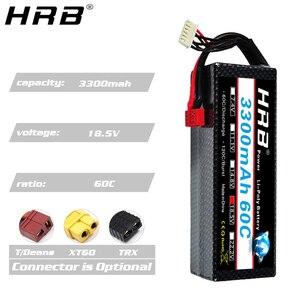 Image 4 - HRB 3300mah Hardcase Lipo Battery 2S 7.4V 3S 11.1V 4S 14.8V 5S 18.5V 6S 22.2V 60C T Deans XT60 Hard Case RC Airplanes Car Parts